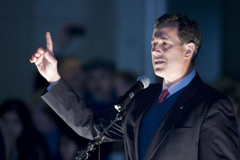 Former GOP presidential candidate Rick Santorum. (File/UPI/Jim Bryant)