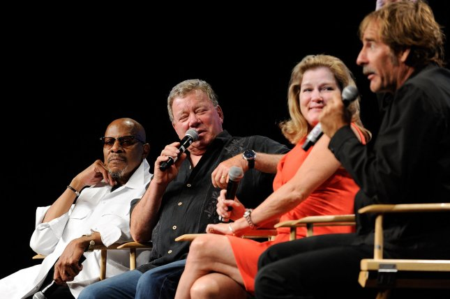 Actors from earlier Star Trek series, left to right, Avery Brooks, William Shatner, Kate Mulgrew and Scott Bakula at the Official Star Trek Convention in 2012. A new Star Trek series will debut in January 2017. File Photo by David Becker/UPI