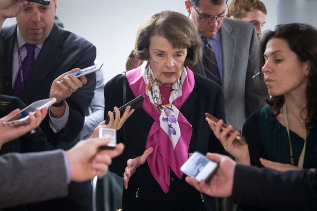 Sen. Dianne Feinstein, D-Calif., says Trump administration could face a legal fight if it scales back mandates for fuel economy. File Photo by Erin Schaff/UPI