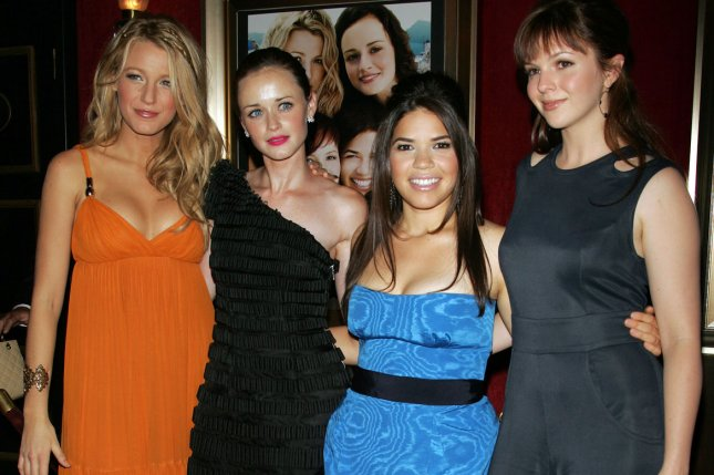 Left to right, Blake Lively, Alexis Bledel, America Ferrera and Amber Tamblyn starred in The Sisterhood of the Traveling Pants movie and its sequel. File Photo by Laura Cavanaugh/UPI