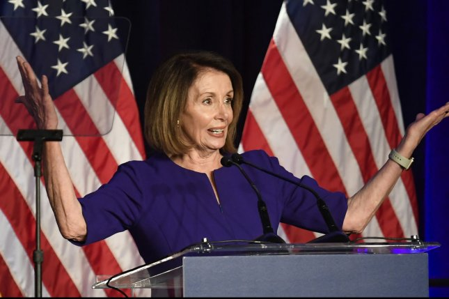 Democratic leader Nancy Pelosi of California is among at least 123 women in the U.S. House of Representatives. Photo by Mike Theiler/UPI