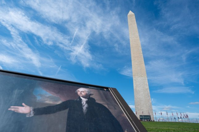 The Washington Monument is seen Thursday after it reopened after three years of repairs and renovations. Photo by Kevin Dietsch/UPI
