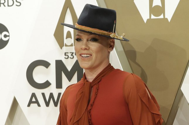 Pink said she has recovered from the coronavirus. File Photo by John Angelillo/UPI