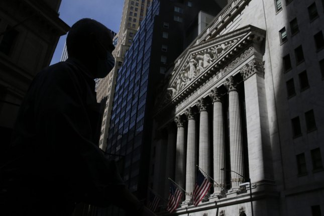 The New York Stock Exchange is seen Tuesday on Wall Street in New York City. Photo by John Angelillo/UPI
