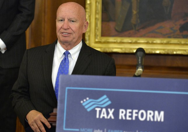 Rep. Kevin Brady, R-Texas, announced Wednesday that he will retire at the end of his current term, his 13th representing the state's 8th District.File Photo by Mike Theiler/UPI