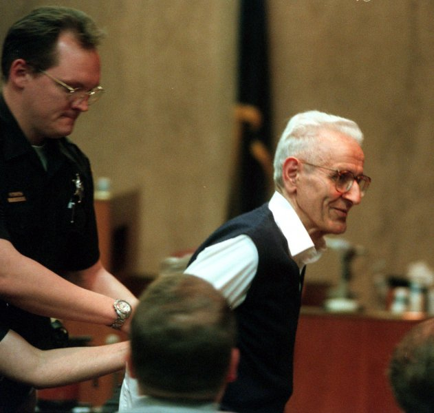 Dr. Jack Kevorkian passed away at the age of 83. wy/vg/Vaughn Gurganian/POOL UPI