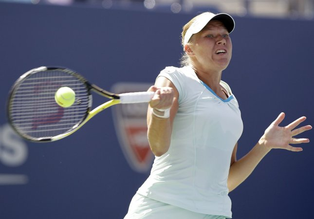 Kaia Kanepi, shown in the 2010 U.S. Open, was a second-round winner Wednesday at the e-Boks Open tennis tournament in Denmark. UPI/John Angelillo