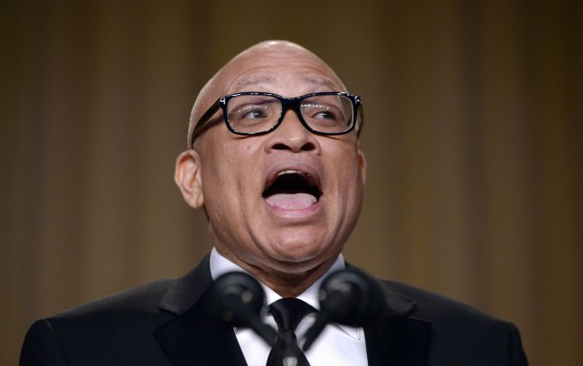 Comedian Larry Wilmore speaks during the White House Correspondents' Association annual dinner on Saturday night. Wilmore's use of the n-word in his stand-up routine in reference to President Barack Obama stirred controversy. Pool photo by Olivier Douliery/UPI