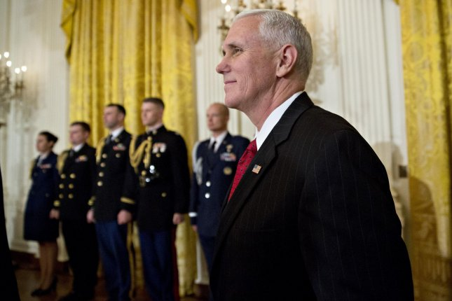 U.S. Vice President Mike Pence, pictured during a swearing-in ceremony at the White House on January 22, 2017, will speak at a rally before the anti-abortion March for Life on Friday from the Washington Monument to the U.S. Supreme Court. Previous to Pence, no president or vice president has spoken at the event during it's 43 years of existence, though President Ronald Reagan addressed the rally in 1988 via video and President George W. Bush greeted the crowd over the telephone. Pool photo by Andrew Harrer/UPI