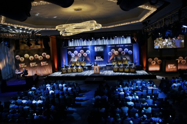 The NBA Draft Lottery gets set to begin at the New York Hilton Midtown in New York City. File photo by John Angelillo/UPI