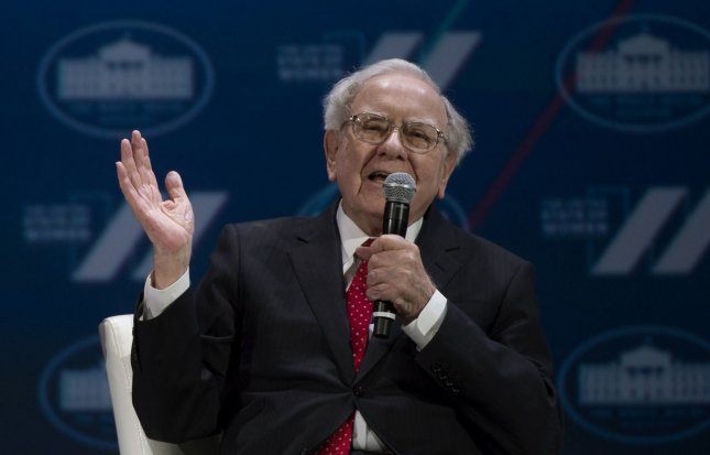 Berkshire Hathaway Inc. chairman Warren Buffett speaks at the White House United State of Women Summit on June 14. On Monday he donated $3.17 billion of his personal fortune to several charities. Photo by Molly Riley/UPI