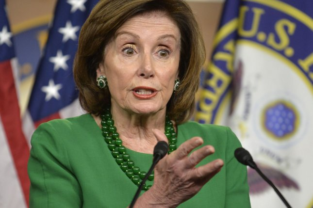 The House sent a revised version ofa coronavirus relief bill to the Senate on Monday as President Donald Trump said that Republican senators may make it even better when it arrives there. Photo by Mike Theiler/UPI