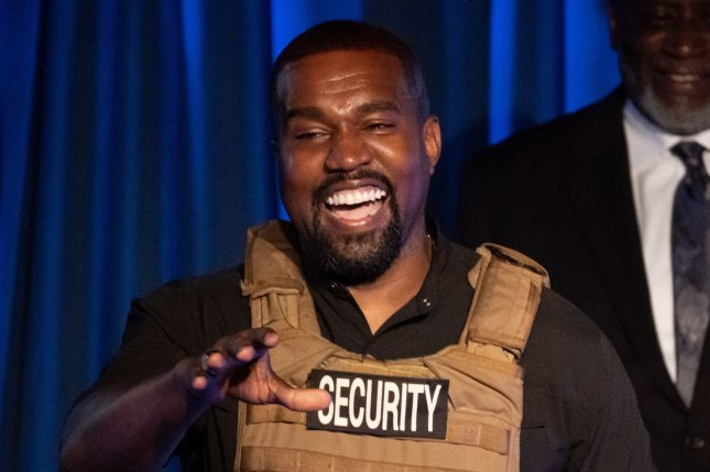 Apple Music is livestreaming Kanye West as he gets ready to premiere his new album Donda at Atlanta's Mercedes-Benz Stadium. File Photo by Richard Ellis/UPI