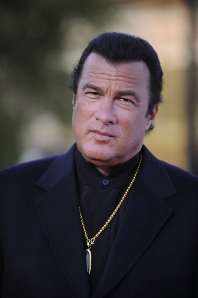 Actor Steven Seagal attends the JC Penney Asian Excellence Awards in Los Angeles on April 23, 2008. (UPI Photo/ Phil McCarten)