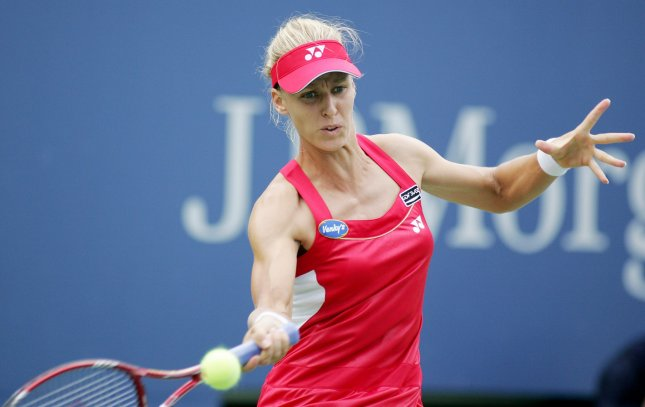 Elena Dementieva, shown in a file photo from this year's U.S. Open, on Friday said she was retiring from competitive tennis. UPI Photo/Monika Graff...