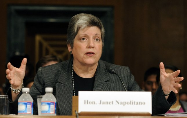 Homeland Security Secretary Janet Napolitano testifies before the Senate Judiciary Committee oversight hearing regarding immigration, border security, visas and other security issues on Capitol Hill in Washington, DC, on October 19, 2011. UPI/Roger L. Wollenberg