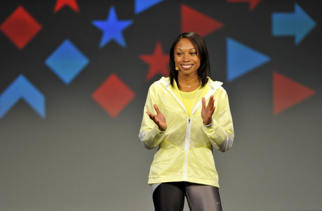 U.S. reverses child obesity trend in preschooler in 18 states. Olympic Gold Medalist and track and field star Allyson Felix speaks at First Lady Michelle Obama's Bringing Physical Activity Back to Schools event at McCormick Place in Chicago on February 28, 2013. Obama held her event in Chicago to celebrate the third anniversary of her Let's Move anti-obesity program. UPI/Brian Kersey
