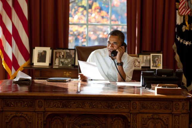 President Barack Obama rang three moms as a special Mother's Day surprise. File photo by Pete Souza/White House