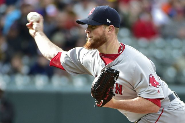 Boston Red Sox relief pitcher Craig Kimbrel delivers a pitch. File photo by David Tulis/UPI