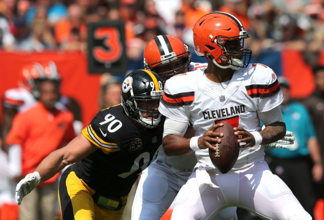 DeShone Kizer and the Cleveland Browns square off with the Indianapolis Colts on Sunday. Photo by Aaron Josefczyk/UPI