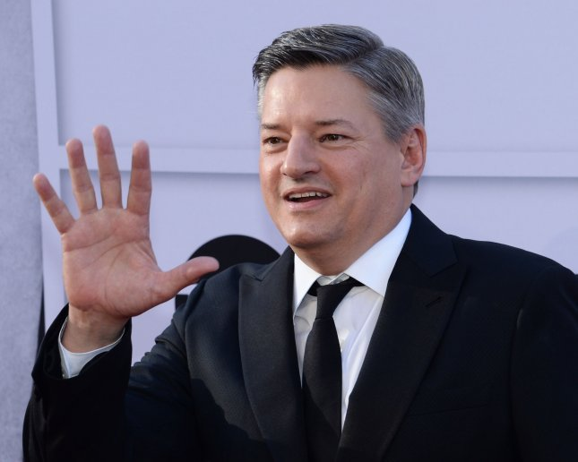 Netflix CCO Ted Sarandos arrives for American Film Institute's 45th annual Life Achievement Award tribute gala honoring actress Diane Keaton at the Dolby Theatre in Los Angeles on June 8. On Monday, Sarandos said Netflix has plans to release 80 feature films in 2018. File Photo by Jim Ruymen/UPI