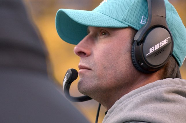 Adam Gase coached the Miami Dolphins for three seasons before being fired on New Year's Eve. File photo by Archie Carpenter/UPI