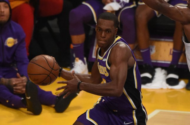 4f58ca08d14 Los Angeles Lakers guard Rajon Rondo looks to pass during a game against  the Minnesota Timberwolves on November 7 in Los Angeles.