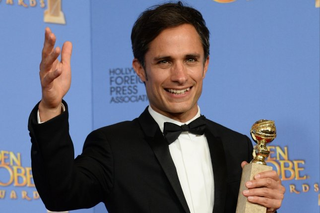 Actor Gael Garcia Bernal, winner of the award for Best Performance by an Actor in a Television Series - Musical or Comedy for Mozart in the Jungle at the 73rd annual Golden Globe Awards in Beverly Hills on January 10, 2016. Photo by Jim Ruymen/UPI