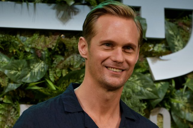 Actor Alexander Skarsgard attends a stage greeting for the film The Legend of Tarzan in Tokyo, Japan, on June 6, 2016. This film will open on July 30 in Japan. Photo by Keizo Mori/UPI