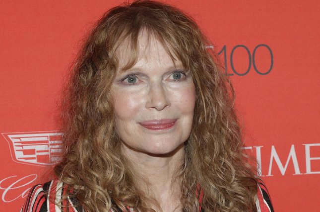 Mia Farrow arrives on the red carpet at the TIME 100 Gala at Frederick P. Rose Hall, Home of Jazz at Lincoln Center, in New York City on April 26, 2016. Farrow is devastated over the loss of her son Thaddeus who recently committed suicide. File Photo by John Angelillo/UPI