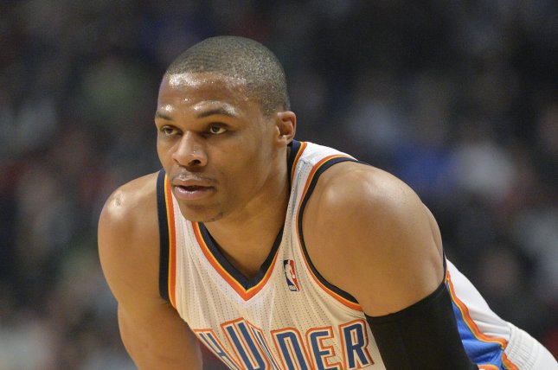 Oklahoma City Thunder guard Russell Westbrook. UPI/Brian Kersey