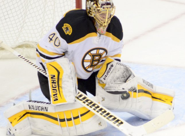 Tuukka Rask bounced back after a one-game absence with a strong 24-save performance to lead Boston to a 4-1 victory that ended the Predators' four-game winning streak -- and allowed the Bruins to take another step toward ending their two-year playoff absence. File Photo by Archie Carpenter/UPI