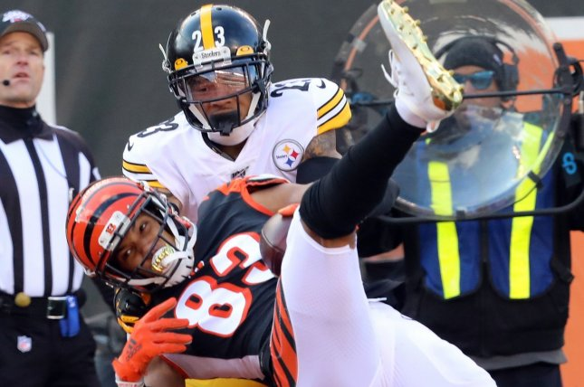 Cincinnati Bengals wide receiver Tyler Boyd (83) had five catches for 101 yards and a touchdown in Week 12 against the Pittsburgh Steelers. Photo by John Sommers II/UPI