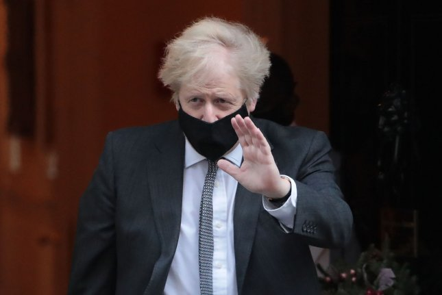 British Prime Minister Boris Johnson announced Monday a national lockdown to curb COVID-19 pandemic in England amid new variant. Photo by Hugo Philpott/UPI
