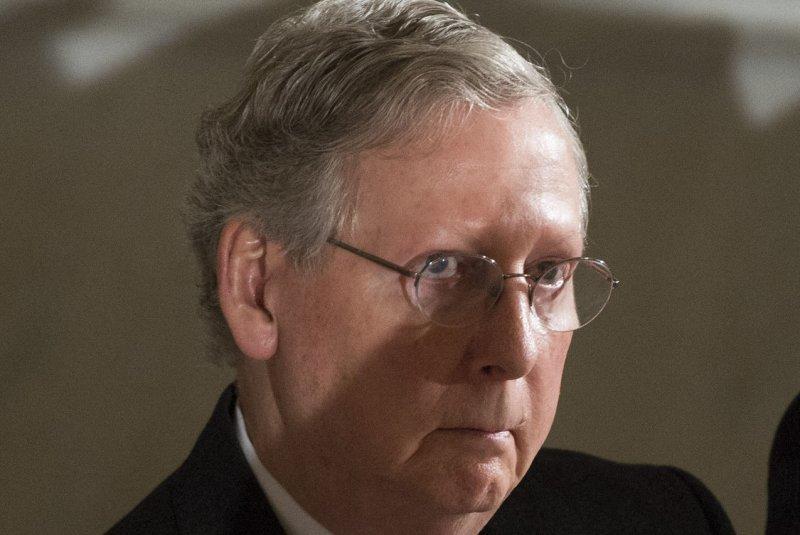 Senate Minority Leader Mitch McConnell. UPI/Kevin Dietsch