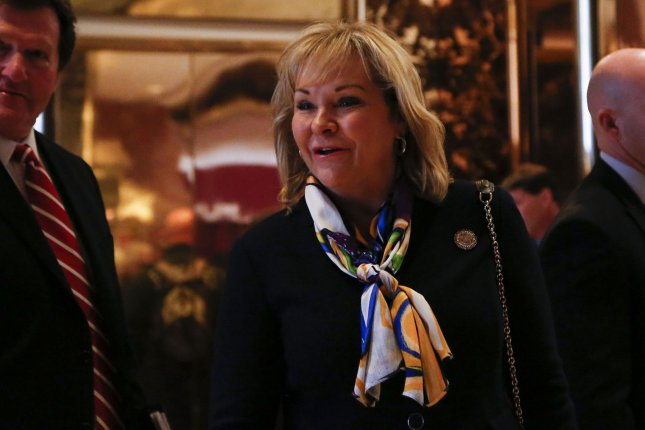 Oklahoma Gov. Mary Fallin draws criticism from oil and gas trade group for raising production taxes in an effort to close a gap in the state budget. Pool Photo by Aude Guerrucci /UPI