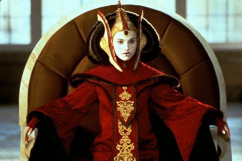 Natalie Portman as Queen Amidala on Star Wars: Episode I The Phantom Menace. jr/Keith Hamshere/Lucasfilm UPI