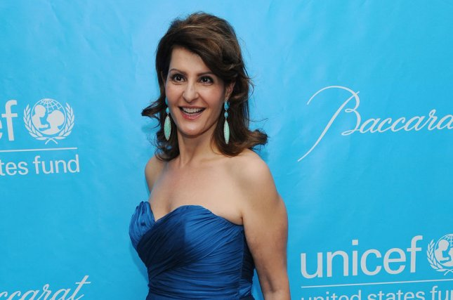 Nia Vardalos at the UNICEF Ball on December 8, 2011. The actress shared the My Big Fat Greek Wedding 2 poster Tuesday. File Photo by Jim Ruymen/UPI