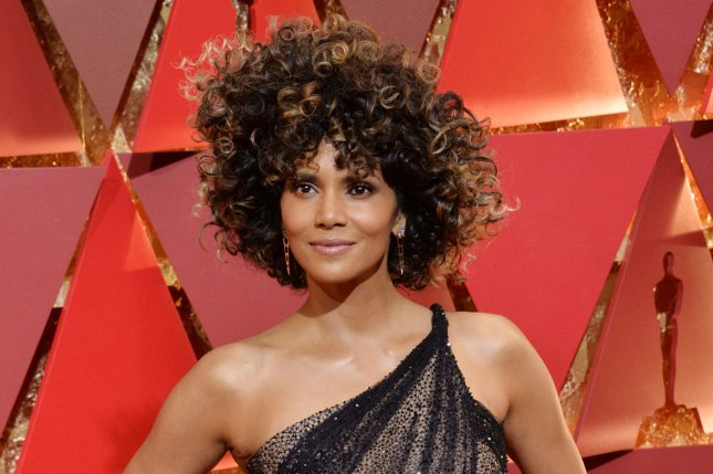 Halle Berry attends the Academy Awards on Sunday. The actress went skinny dipping after the ceremony. Photo by Jim Ruymen/UPI