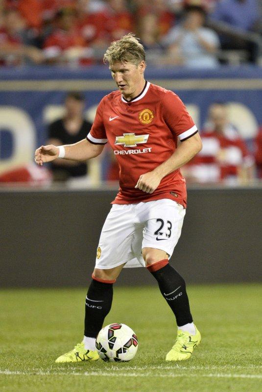 Manchester United midfielder Bastian Schweinsteiger is headed to the Chicago Fire. Brian Kersey/UPI