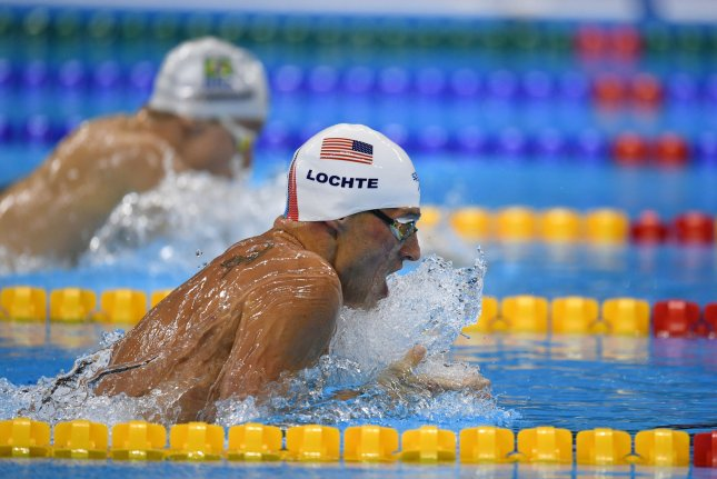 Ryan Lochte participated in his first competition since he was banned for 14 months by the U.S. Anti-Doping Agency in July 2018 and won the 200-meter individual medley at the U.S. national championship Sunday at Stanford University in Stanford, Calif. File Photo by Richard Ellis/UPI