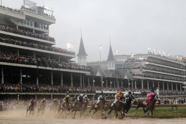 Churchill Downs will be part of a virtual Kentucky Derby on Saturday on NBC after the 146th running of the race -- planned for that day -- was postponed due to the coronavirus pandemic. File Photo by John Sommers II/UPI