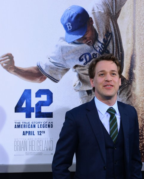 T.R. Knight attends the premiere of 42 at the TCL Chinese Theatre in the Hollywood section of Los Angeles on April 9, 2013. 42 depicts Jackie Robinson's life story and his history-making signing into professional baseball with the Brooklyn Dodgers under the guidance of team executive Branch Rickey. UPI/Jim Ruymen