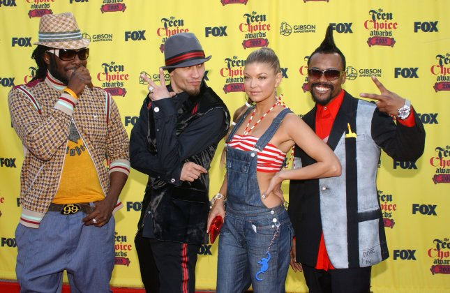The Black Eyed Peas arrive at the 2005 Teen Choice Awards August 14, 2005 at the Gibson Amphitheater in Universal City, California. (UPI Photo/Michael Tweed)