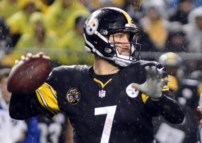 Pittsburgh Steelers quarterback Ben Roethlisberger looks to pass during a game against the New England Patriots earlier this month. Photo by Archie Carpenter/UPI