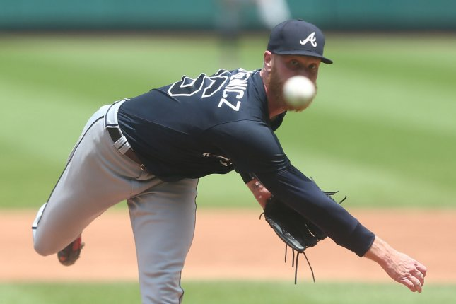 Mike Foltynewicz and the Atlanta Braves face the Philadelphia Phillies on Friday. Photo by Bill Greenblatt/UPI