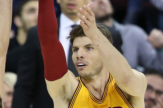 Veteran NBA guard Kyle Korver has led the league in three-point shooting four times. FilePhoto by Aaron Josefczyk/UPI