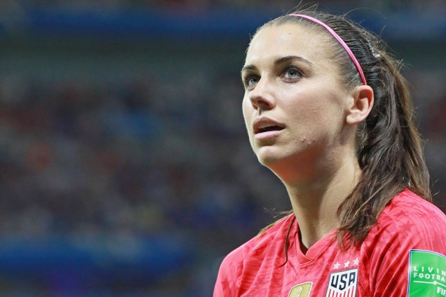Alex Morgan has 33 goals and 18 assists during her career in the National Women's Soccer League. File Photo by David Silpa/UPI