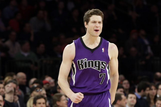 Former Sacramento Kings guard Jimmer Fredette agreed to play his second season in the Chinese Basketball Association. File photo by John Angelillo/UPI