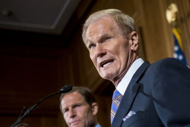 U.S. Sen. Bill Nelson, D-Fla., works to block federal appointments to the Interior Department until the agency formally redrafts an offshore lease proposal to include a ban on drilling off the Florida coast. File photo by Pete Marovich/UPI